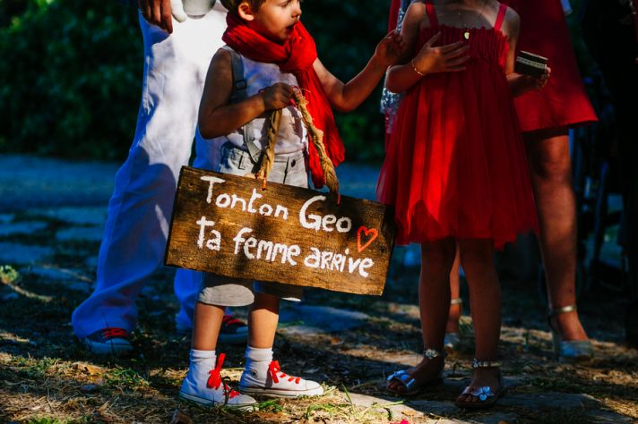 French ceremony sign