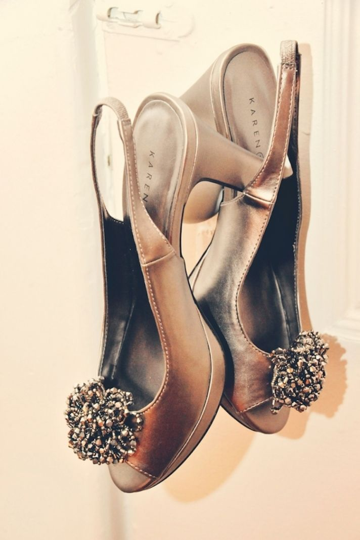 Vintage urban wedding shoes
