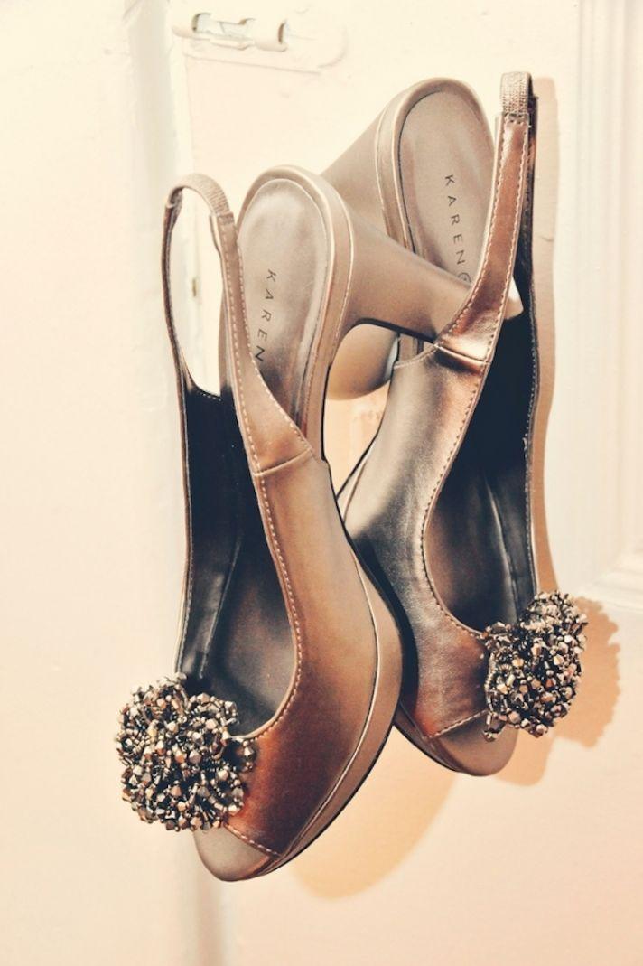 Vintage urban wedding shoes