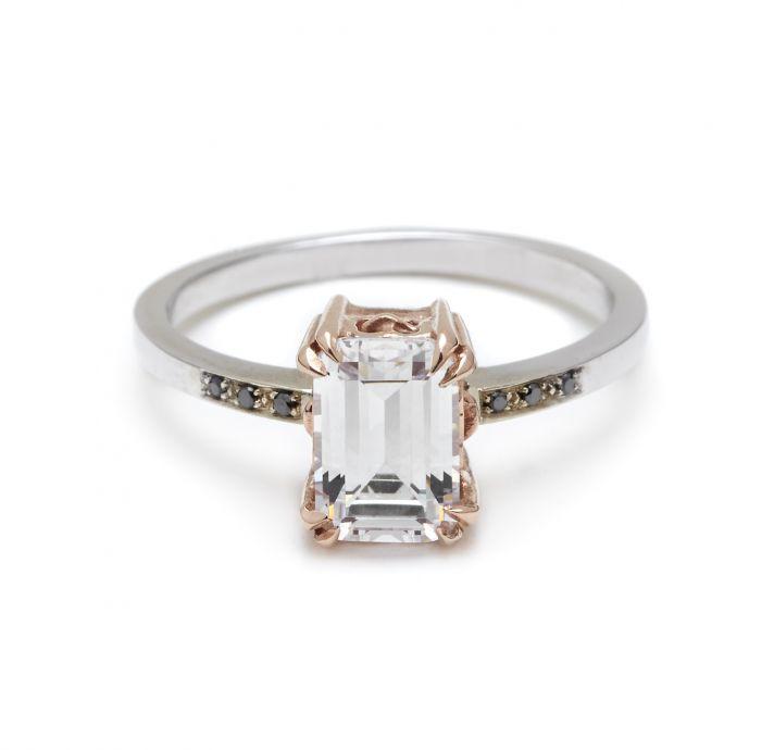 Wedding Rings Black Diamonds 92 Beautiful Emerald cut diamond engagement