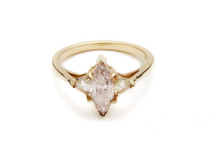 Unique rose gold engagement ring