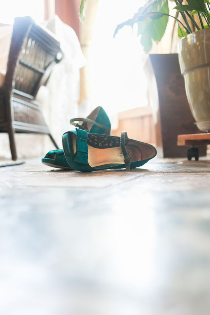 Velvet wedding heels