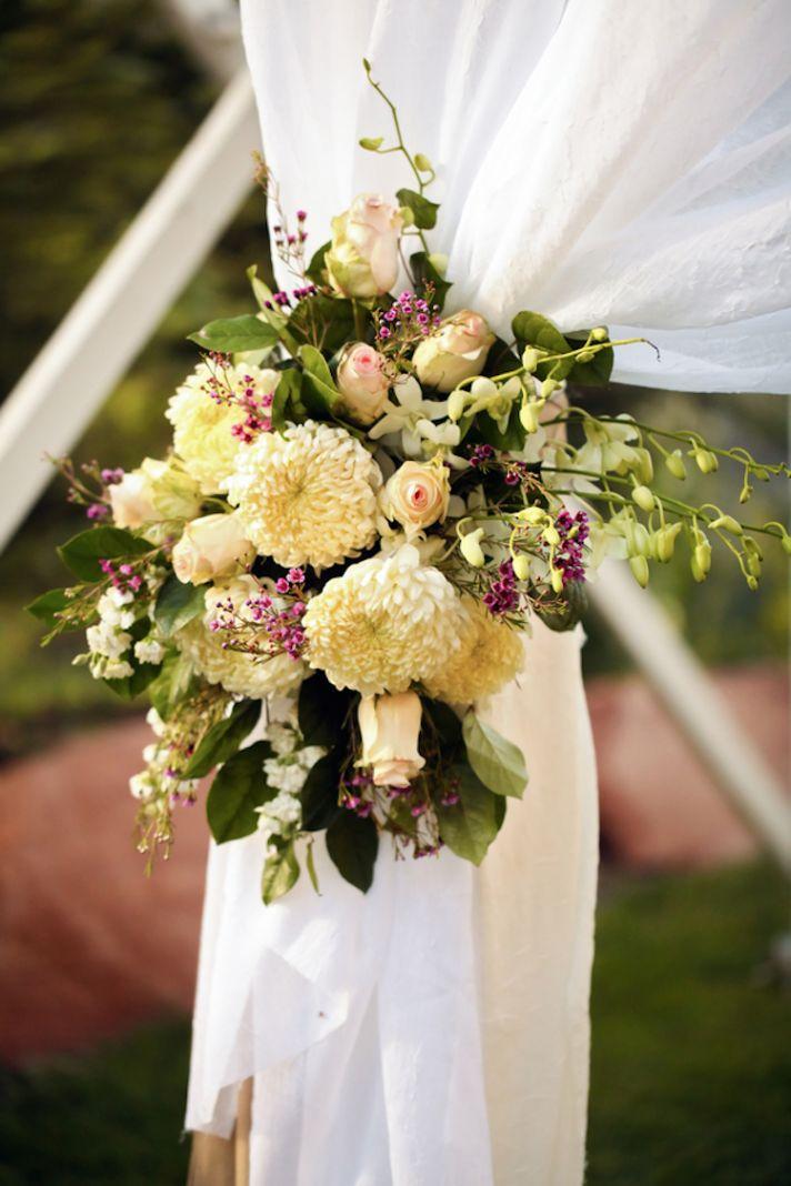 Altar wedding flower inspiration