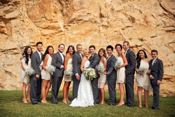 Utah bridal party