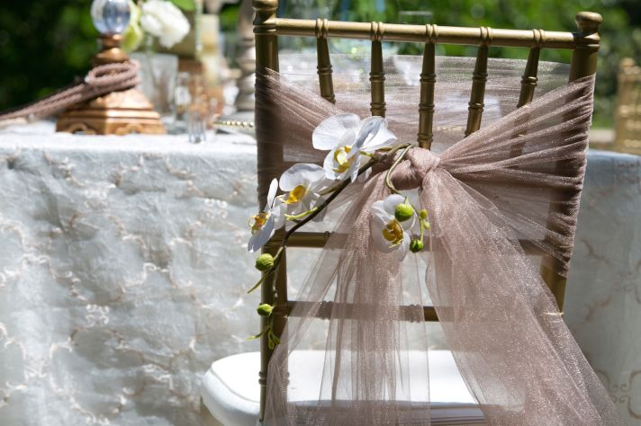 Winery wedding chair wrap inspiration