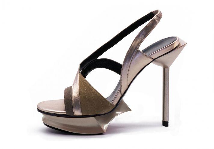 Les Christelles Gold shoes from Maison des Talons