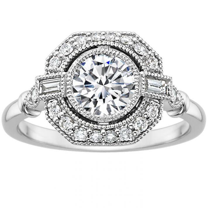 Vintage Bezel set Diamond