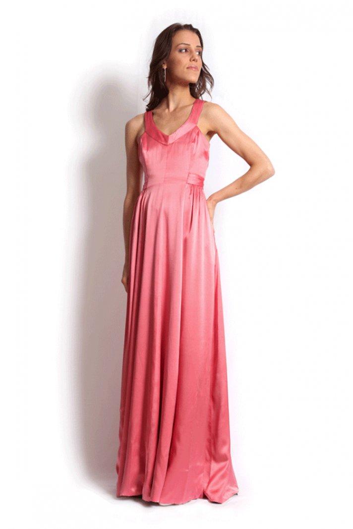 Shiny Pink Bridesmaid