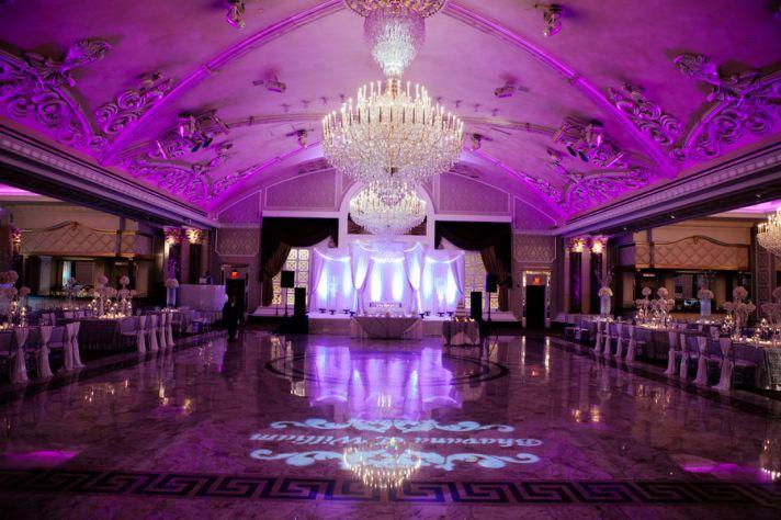 Purple Glamorous Reception