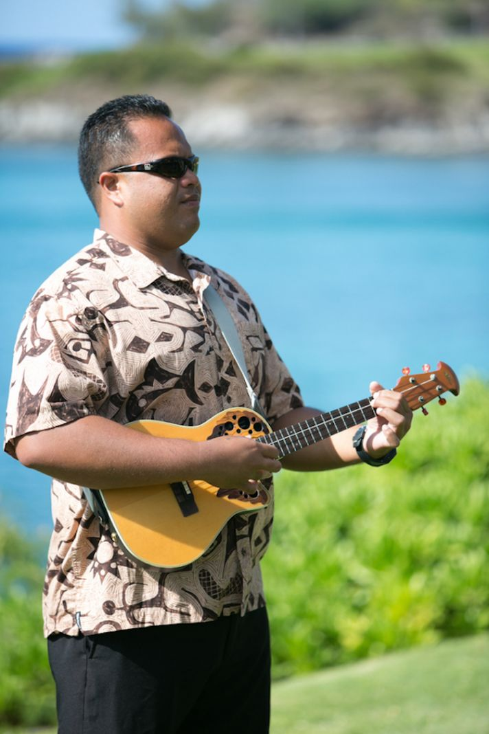 Hawaiin Guitarist at Ceremony