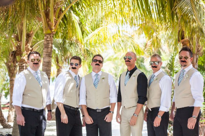 Groomsmen with Mustaches