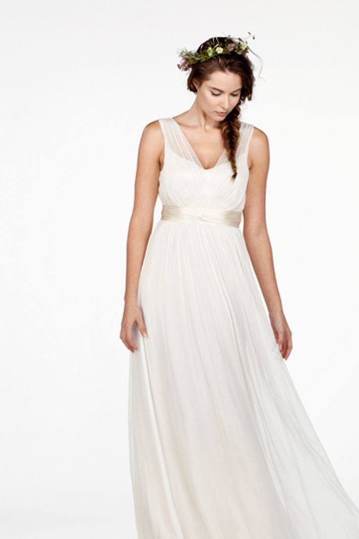 Illusion V Neck Ethereal Dress