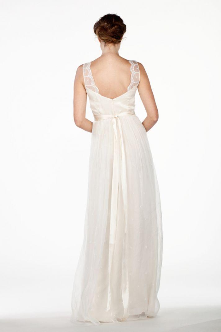 Scalloped Straps on A Line Dress