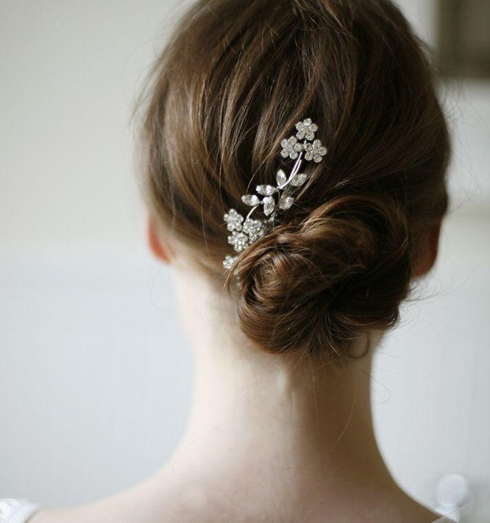 Delicate Swarovski Crystal Hair Comb