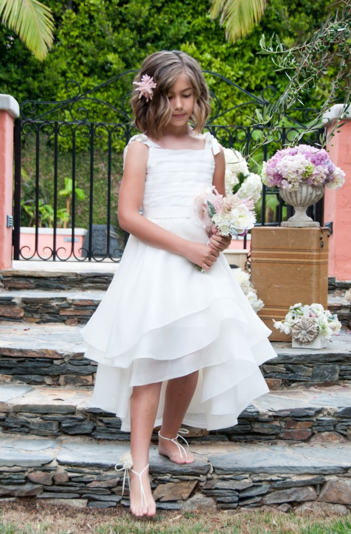 Flower Girl Dress with Flowy Tiered Skirt