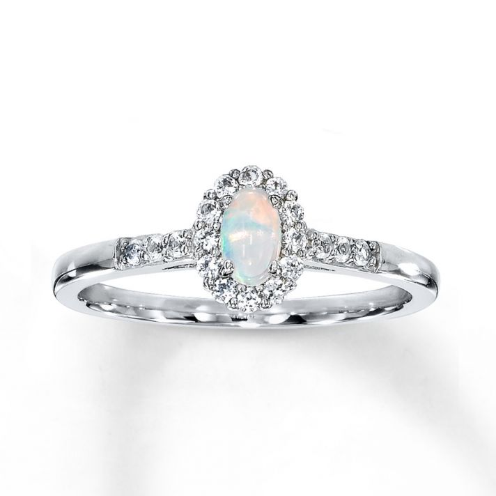 Oval Opal Engagement Ring