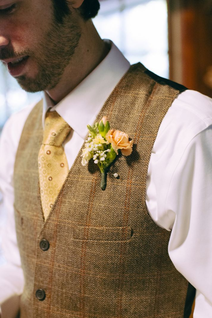 Autumn Inspired Groom Attire