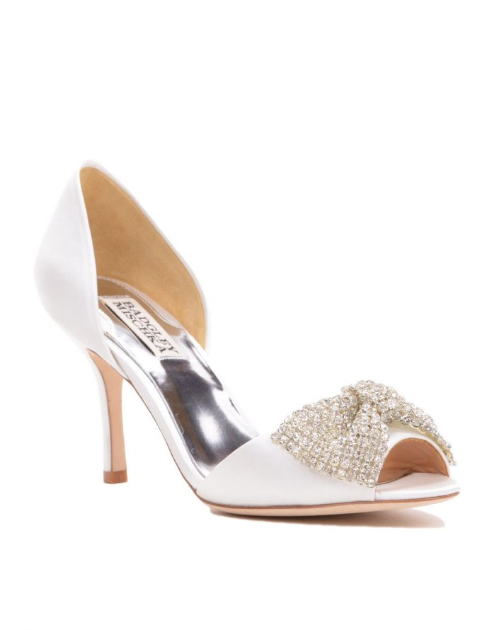 Ivory Bridal Heel with Fun Blingy Bow