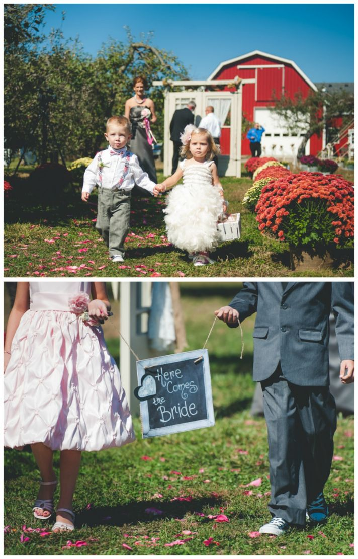 Here Comes the Bride Flower Girl Sign