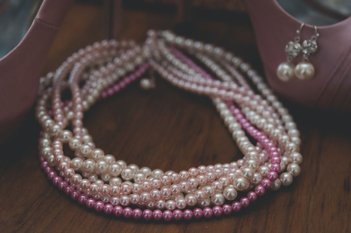 Beautiful Pink and White Pearl Necklace