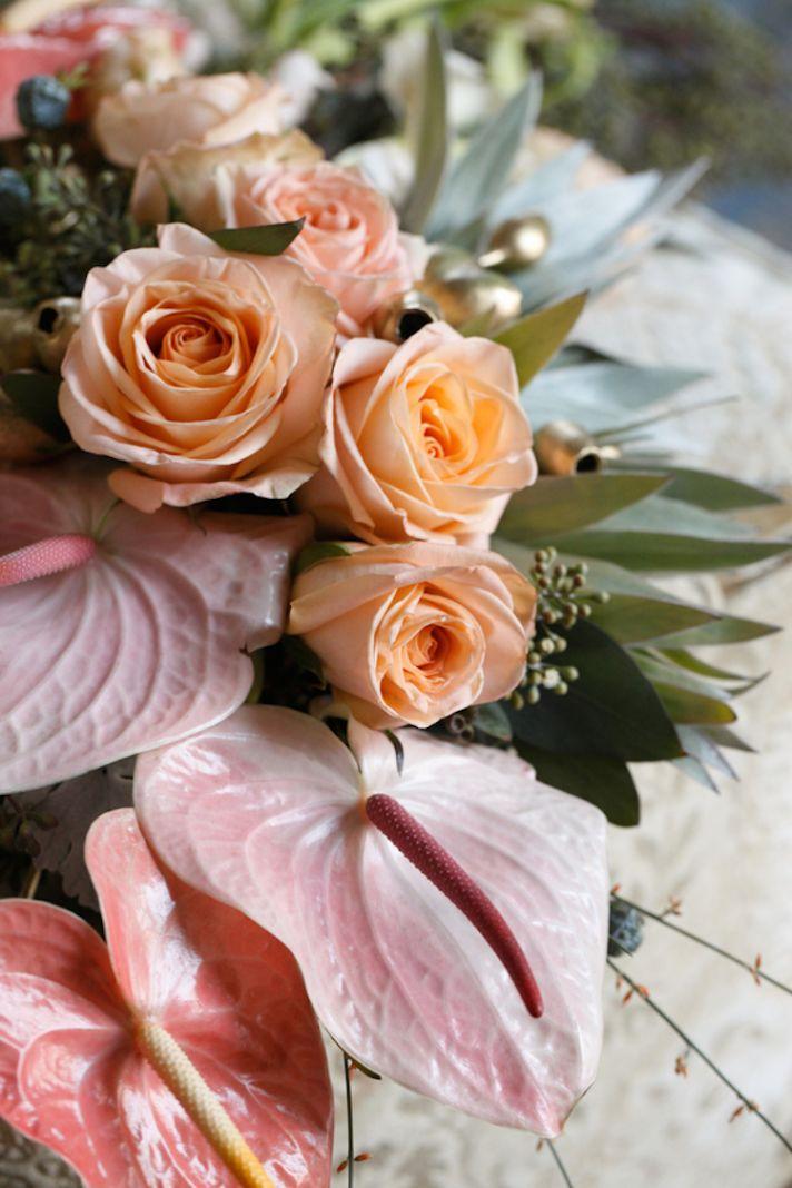 Roses and Anthurium Bouquet