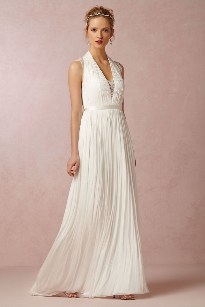 BHLDN Wing Wedding Dres