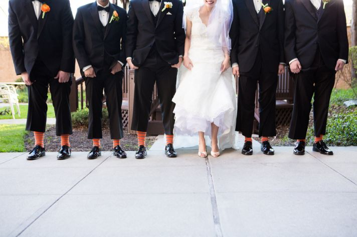 Bride and Groomsmen Shoe Picture