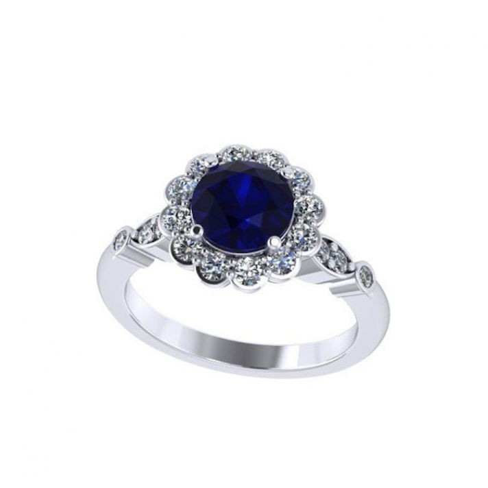 Ritani Endless Love Wedding Band 27 Awesome Floral Inspired Sapphire Ring