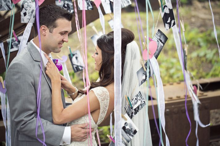 Bride and Groom in a Picture Tree