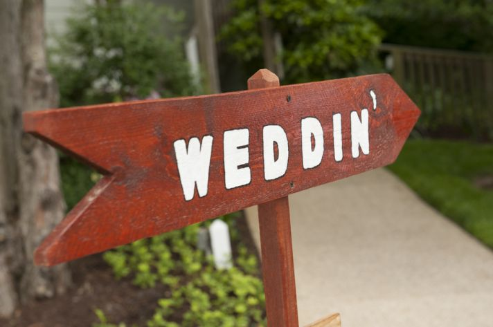 Rustic Wooden Weddin Sign