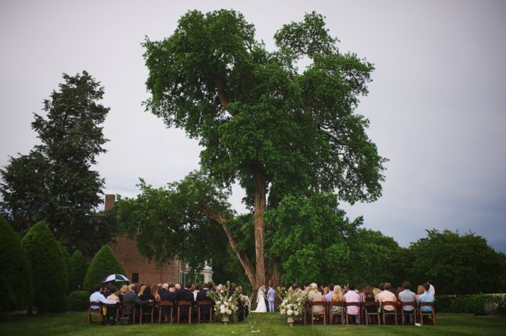 Beautiful Ceremony Site under A Big Tree