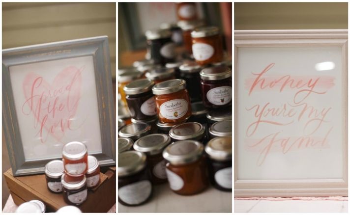 Homemade Honey and Jam Favors