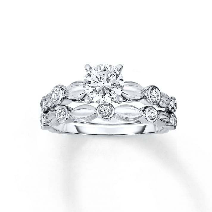 lovely solitaire diamond in contemporary ring setting from jared - Wedding Rings Jared