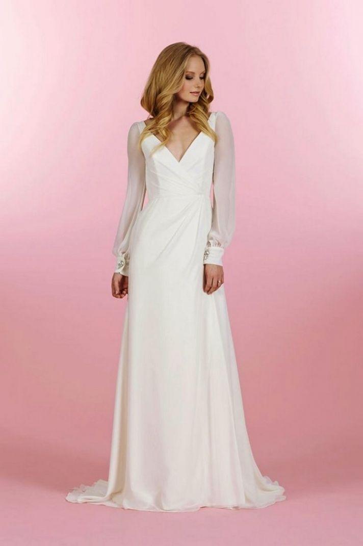 beautiful long sleeve wedding dress stunner