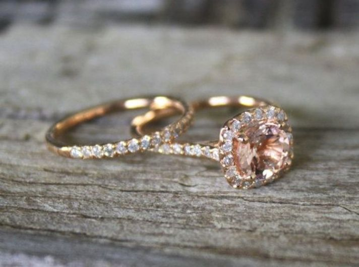 Wedding Ring Plate 58 Best Blush Wedding Ring