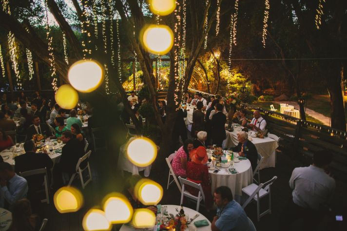 Stunning Lighting for Outdoor Wedding Reception