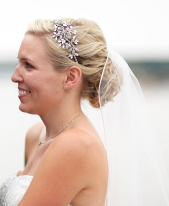 Veil With Side Updo