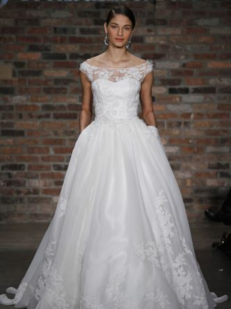 Jewel by priscilla of boston wedding dress style jl228 for Wedding dresses in boston ma