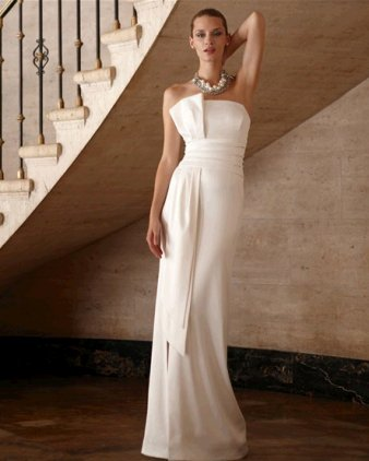 White Chiffon Dress on White House Black Market Designer Wedding Dresses   Onewed