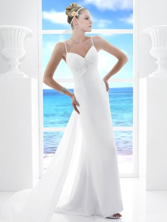 White Beach Dress on T485 White Column Wedding Dress Spring 2011 Casual Beach Wedding Style